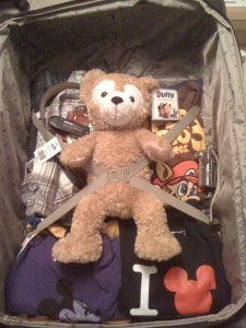 Duffy is packed and ready for Disneyland!