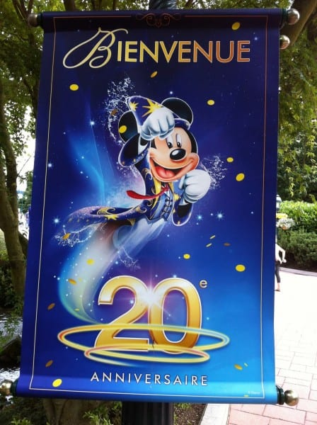 Disneyland Paris 20th Anniversary Banners - Mickey