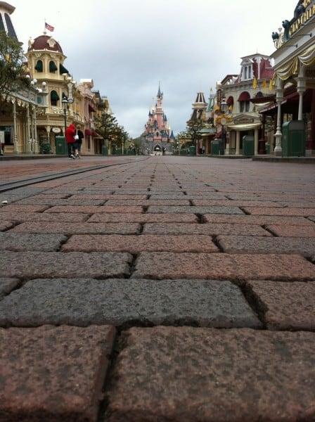 Empty Main Street USA
