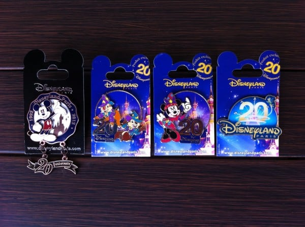 Disneyland Paris 20th Anniversary Pins