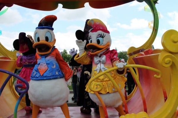 Donald, Daisy, Mickey, & Minnie onboard the 20th Anniversary Celebration Train