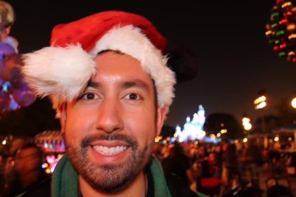 Chris in front of Sleeping Beauty Castle