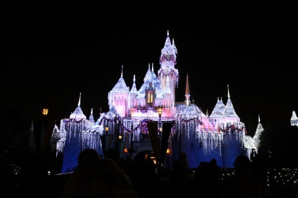 Sleeping Beauty's Castle Decorated for Christmas