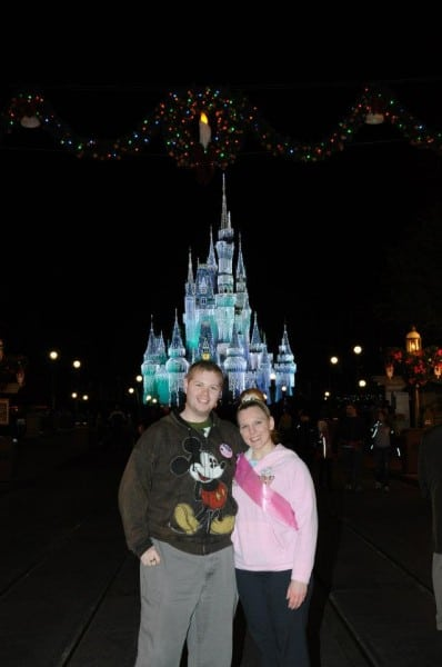 Photo in front of Cinerella's Castle