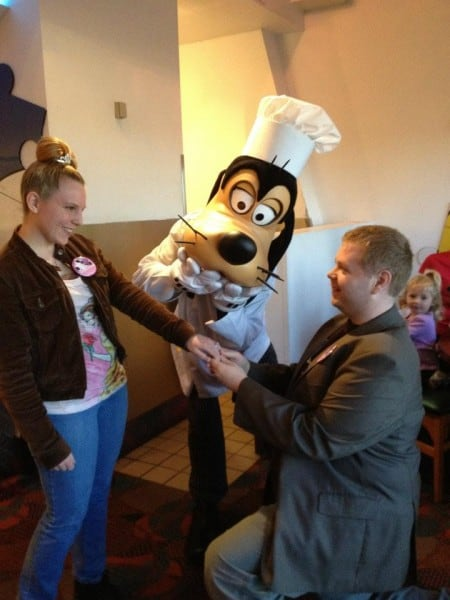 Engagement Take Two at Chef Mickey's