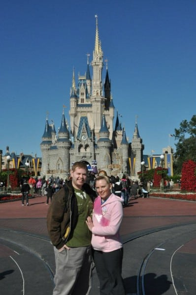 In front of Cinderella's Castle