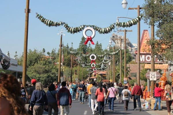 Route 66 Decorated for Christmas