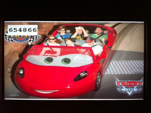 Radiator Springs Racer Ride Photo