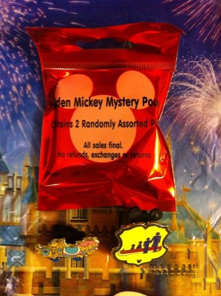 Hidden Mickey Pins Red 2012