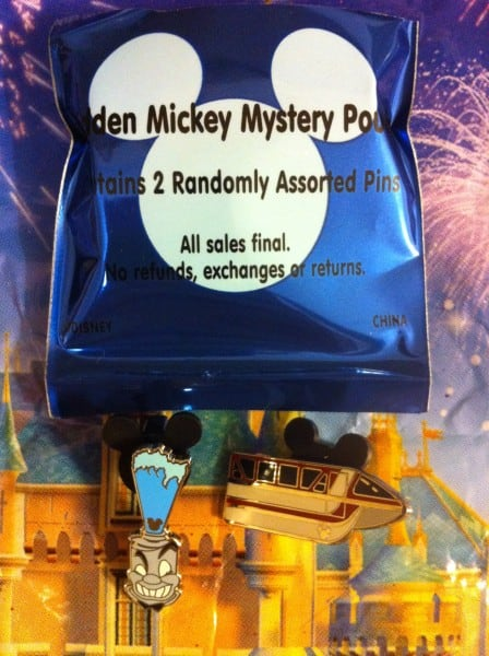 Hidden Mickey Pins Blue 2012