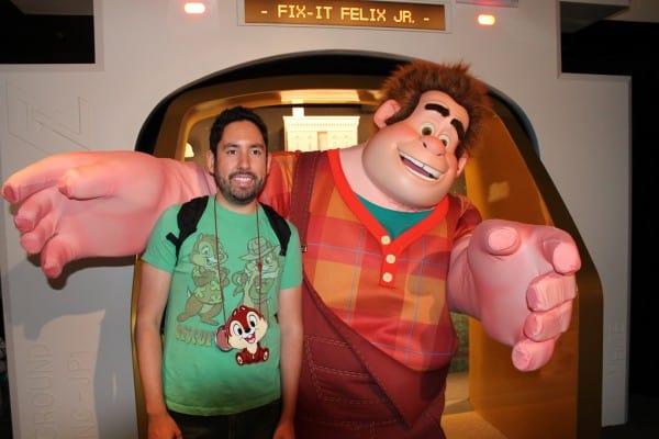 Chris Meeting Wreck-It Ralph in Disneyland