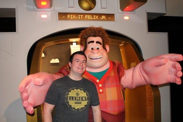 John Meeting Wreck-It Ralph in Disneyland