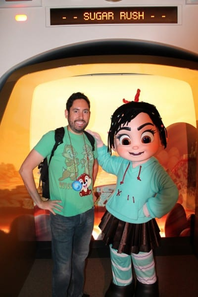 Chris meeting Venellope from Wreck-It Ralph
