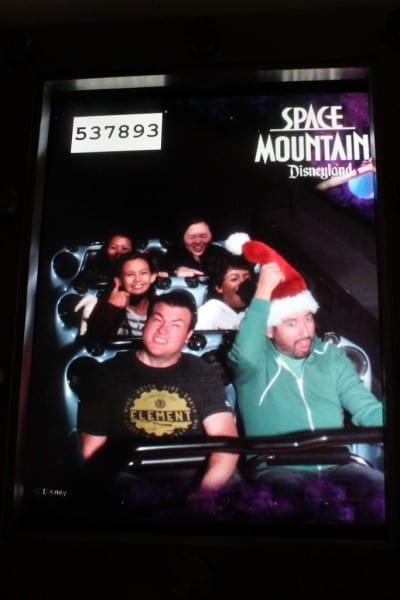 Space Mountain Santa Mickey Ears