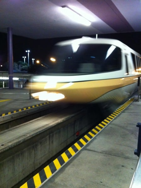 Monorail Coming In To The Station
