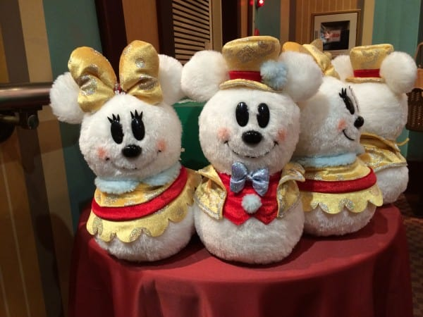 Mickey & Minnie Stuffed Snowmen
