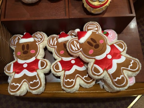 Mickey Mouse Gingerbread Pillow