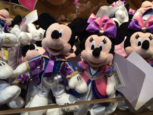 Mickey and Minnie Valentine Nights 2014 Plush
