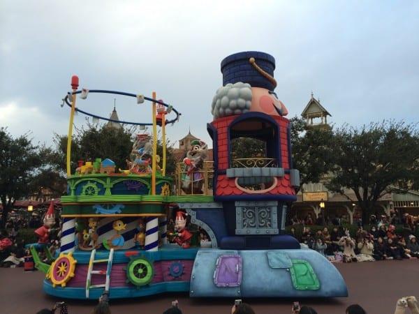 Rain at Tokyo Disneyland