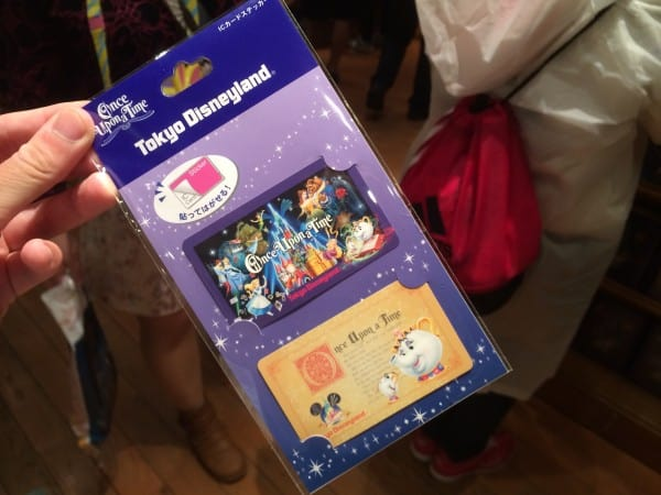 Once Upon A Time Train Pass Sticker at Tokyo Disneyland