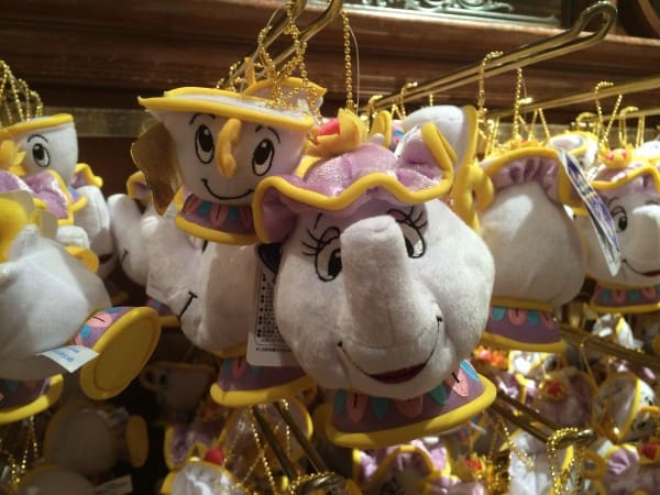 Mrs. Potts and Chip Plush at Tokyo Disneyland