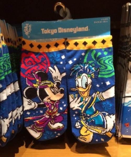 Natsu Matsuri Mickey & Donald Socks