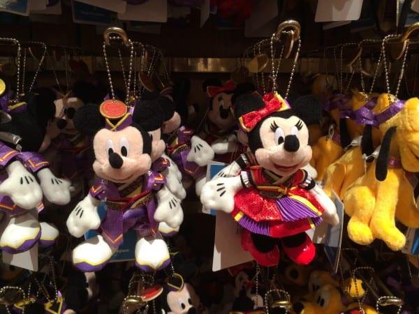 Mickey & Minnie Natsu Matsuri Yukata Plush Keychains