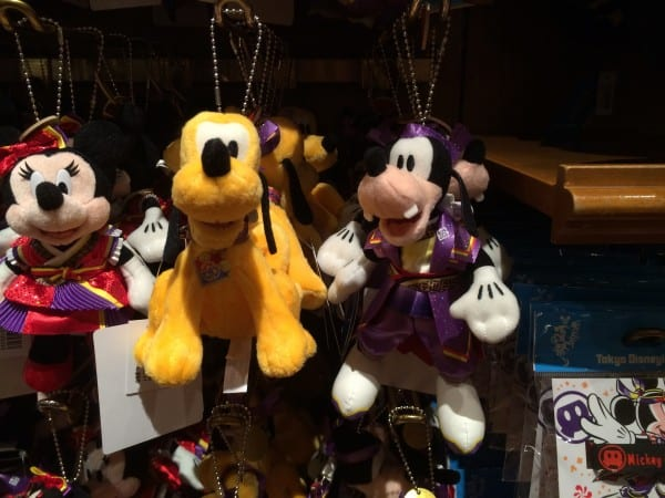 Pluto & Goofy Natsu Matsuri Yukata Plush Keychain