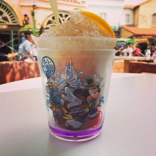 Lemon Tea and Jelly Frozen Drink